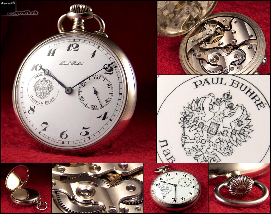 часы серебряные карманные павел буре